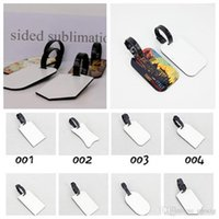 Wholesale blank luggage tags for sale - Group buy DIY Heat transfer printing Blank baggage tag sublimation MDF Woodcut luggage tag ornaments circle heat transfer flower blank plate color