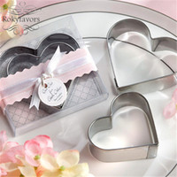 Wholesale babies giveaways resale online - 20Sets Heart Cookie Cutter Favors Wedding Gifts Party Giveaways Birthday Keepsake Baby Souvenir Ideas Bridal Shower