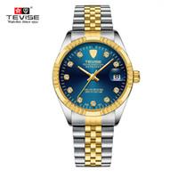 tevise роскошные мужчины оптовых-Новый Tevise водонепроницаемый полуавтоматические механические часы мужчины бренд часы мода роскошные наручные часы световой Спорт случайные часы