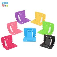 Wholesale lg phone holder for sale – best 500pcs Candy Color Phone Holder Plastic Folding Dual Mobile Phone Universal Bracket For cellphone