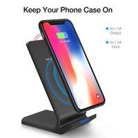 iphone sertifikalı şarj cihazları toptan satış-2019 yeni IN-STOCK Kablosuz Şarj Qi Sertifikalı 10 W Hızlı Kablosuz Şarj Şarj Pad Standı üretici tedarikçisi samsung iphone 8 X