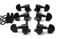 Black Semicircle Locking Acoustic Electric Guitar Tuning Pegs Tuners Machine Head 6R 3L+3R Free Shipping
