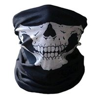 Wholesale woven wraps sale for sale - Group buy Hot sale Unisex Halloween Cosplay Scarves and Wraps Bicycle Ski Skull Half Face Mask Ghost Scarf Bandanas