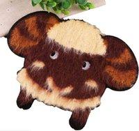 ingrosso ricamati per bambini-Cute pecore ricamate patch animali cucire su applique Mend abbigliamento strisce fai da te carino decorazione per bambini Camicie giacche maglione cappotti