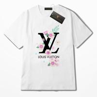 t-shirt impresso verão menina venda por atacado-Nova moda feminina homens Casual t-shirt de impressão de verão roupas de roupas infantis de manga curta tops meninos e meninas camisetas A31024