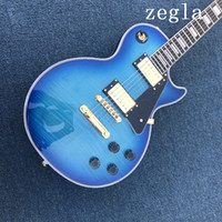 Wholesale Guitar - Free delivery of new electric guitar rosewood Blue Tiger color can be customized china guitar