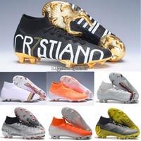 chaussures de football mercuriales pour hommes achat en gros de-Mercurial Superfly 6 Elite CR7 SE FG VI 360 Chaussures de soccer haute pour hommes, enfants