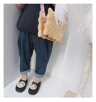 Wholesale boy pants denim harem resale online - Boys and Girls Jeans Pants with Slant Pocket Spring Clothes Kids Children New Blue Color Toddler Boys Harem Trousers T