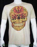 новый модный рынок оптовых-Черный рынок искусства Inphamus Dia Los Muertos сахар череп татуировки футболки S Новый Новый футболка мужская мода футболки