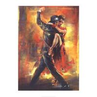 impressionistische malereien großhandel-Handgemalte Willem Haenraets Gemälde Tango Argentino Impressionist Frau Kunst für Wanddekoration