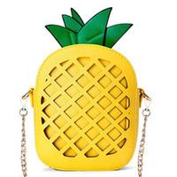 monederos en forma de fruta al por mayor-Monedero de piña JHD-Mujer, bolso de cuero en forma de fruta Pu (1-Piña)