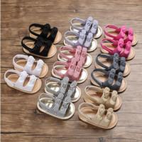 Wholesale sandal prewalker for sale - Group buy Kids Designer Shoes Girls Sandals Toddler Baby Summer Prewalker Baby Boy Girls Cotton Soft Soled Shoes Kids Beach Antiskid Sandals