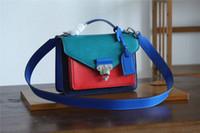 bolso de tres tonos al por mayor-2019 bolsos de las bolsas del cuero genuino de las mujeres de tres cruz del tono de bolsas bolsas de alta calidad bolso de hombro envío libre global