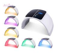 máquinas de terapia de luz led light venda por atacado-Livre de impostos da UE Portátil Photon Therpay Tratamento Acne Levou Terapia de Luz PDT Máquina Facial Rejuvenescimento Da Pele Aperto Uso Doméstico Salão de beleza