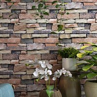 3D simulation brick pattern brick wallpaper retro nostalgic personality stone pattern bar cafe KTV industrial style wallpaper