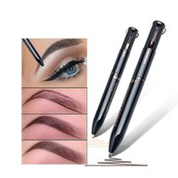 wasserdichter concealer bleistift großhandel-4 in 1 automatischer Concealer-Augenbrauen-Multifunktionsstift 2 Farben Imprägniern Sie nicht schwindligen Concealer Pencil Eye-Make-up