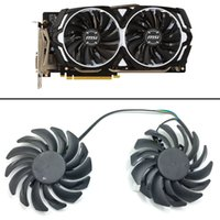 Wholesale video fan for sale - Group buy New mm FOR MSI ARMOR RX570 RX580 GTX1060 GD5X OC G ARMOR Dual Fan Replacement mm Pin PLD09210B12HH A video card fan