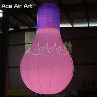 balon ampulleri toptan satış-Hafif Canlı şeklindeki ampul modeli şişme asılı yuvarlak ampul, satılık led ampul reklam balon
