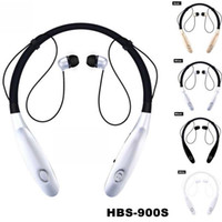 Wholesale hands free phone ear resale online - Universal Neckband Sport Bluetooth Earphone HBS s Headphones Wireless Earbuds Hand Free Headset With Mic last hours V4 For Phone