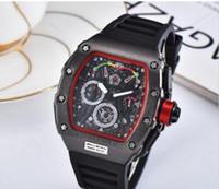 esqueleto de relógio de pulso venda por atacado-Moda Esqueleto Relógios Homens De Luxo Esportes Ao Ar Livre Relógio De Borracha dos homens Quartzl Movimento Relógio de Pulso Frete Grátis