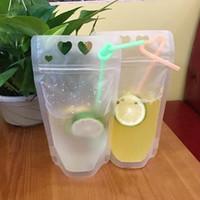 Wholesale plastic bags storage container for sale - Group buy Transparent Self sealed Plastic Beverage Bag Drink Milk Coffee Container Drinking Fruit Juice Bag Food Storage Bag EEA1585
