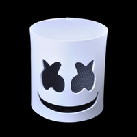 weiße partymasken zum verkauf großhandel-Neue Ankunft Modische Halloween Party Nachtclub EVA Weiße Maske Erwachsene DJ Marshmallow Maske Cosplay Kostüm Helm Verkauf