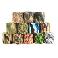 ingrosso copertura tattica di casco airsoft-12 Colori Tattiche Stealth Tapes Army Camo Tape Caccia Esterna Strumento Stealth Nastro Stealth Camouflage Impermeabile Wrap Resistente 5cmx4.5 m K255