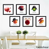 Kreative Wandkunst Leinwand Malerei Poster Obst Gemüse Auf leinwand  Wandbilder Für Speisesaal Küche Wohnkultur Kein Rahmen