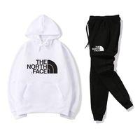 survêtements décontractés pour hommes achat en gros de-Vetements pour hommes Designer North Sweatshirt Pants Survêtements Noir Blanc Rouge Jaune Mode Hommes Casual Vêtements Sports