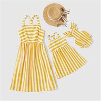 Wholesale matches fashion mom daughter clothes for sale - Group buy Mother Daughter Matching Clothes Summer Family Matching Clothes Stripe Family Look Mom And Daughter Dresses Mommy And Me Clothes