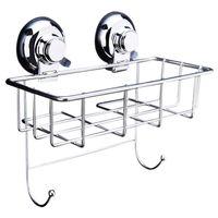 Wholesale stainless steel kitchen rack shelf resale online - Stainless Steel Suction Shower Bath Storage Basket Shelf Kitchen Bottle Rack car