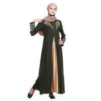 islamische kleidung jilbab abaya großhandel-Dubai Kaftan Kleid Muslim Party Abaya MyBatua Abaya mit islamischer Kleidung von Hijab Jilbab Maxi Muslim Dress Burqa marocain Z411