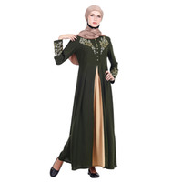 roupa islâmica jilbab abaya venda por atacado-Dubai kaftan Vestido de Festa Muçulmana Abaya MyBatua Abaya com Hijab Jilbab Vestuário Islâmico Maxi Vestido Muçulmano Burqa marocain Z411