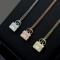 ingrosso pendente di lettera h-Collana con ciondolo a forma di lettera H con diamanti per gioielli da donna