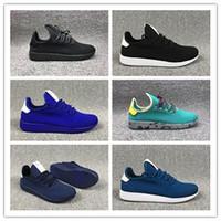 zapatos originales de la raza humana al por mayor-Adidas tennis hu 2019 Recién Llegados de Originales Pharrell Williams Tennis Hu Shoes stan smith 3D Primeknit Sports Fashion Women men PW Human Race Casual Shoes