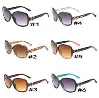 schönes paar groihandel-NEUE Mode Frauen Trend Sonnenbrillen 8016 UV400 großen Rahmen Runde NICE FACE Sonnenbrille 6 Farben Qualität A +++ MOQ = 10 Paare