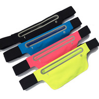 Wholesale mobile phone bag run resale online - Outdoor sports running waterproof mobile phone waist bag cycling hanging waist pack Multi Function anti theft bag ZZA247