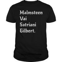 guitarra yngwie al por mayor-Camiseta de los hombres divertidos camiseta de la novedad Yngwie Malmsteen Steve Vai Joe Satriani Gilbert Shred Guitarra camiseta fresca camiseta