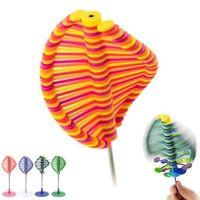 офис стресс игрушки оптовых-Lollipop Stress Relief игрушка офис Lollipopter Вращающийся декомпрессионной игрушка Lollipopter Фибоначчи Творческий Ro-леденец Дети игрушки MMA96