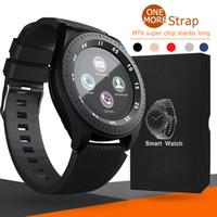 embalagem de pulseira venda por atacado-Z4 Bluetooth Relógio Inteligente Pulseira Android 1.54 polegada LCD Relógios Inteligentes Com Câmera TF SIM Card Slot Relógios de Presente Cinta Com Pacote de Varejo