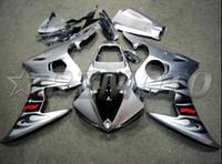 plásticos para r6 venda por atacado-Novas carenagens de plástico para motociclos ABS Aptas para carenagens da Yamaha YZFR6 2003 2004 Carenagem de carroçaria para 2005 YZF R6 03 04 05 chama negra