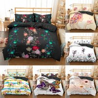 Wholesale girls single bedding for sale - Group buy Homesky Bedding Set King Size Quilt Cover Flower Print For Girls Single Bed Linen Duvet Cover Queen Size with Pillowcases