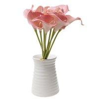 ingrosso disposizione del fiore della tabella-9x Artificiale da tavola Vaso di fiori Arrangement Wedding Calla Lily Bouquet-Pink
