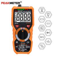 medidor de frecuencia de voltaje al por mayor-PEAKMETER Multímetro digital PM890C / PM890D / PM18 PM18C Verdadero valor eficaz RMS AC / DC Voltaje Medidor de resistencia Frecuencia NCV Tester