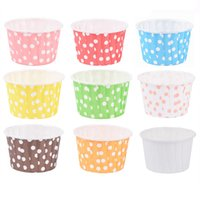 Wholesale cupcake liners papers resale online - 48pcs Cupcake Liner Baking Cup Cupcake Paper Muffin Cases Cake Box Cup Egg Tarts Tray Cake Mould Decorating Tools