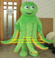 fantasia de cabeça grande venda por atacado-Lula Calamary choco Inkfish Sepia Octopus Devilfish polvo mascote traje adulto cabeça muito grande pré-escolar educação zz7465