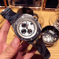 Wholesale watch world time online - Hot style royal movement like tree quartz men s watch world time calendar small three needle sapphire crystal glass mirror silicone watchban