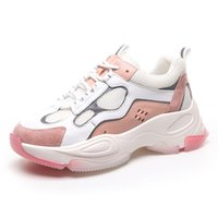 filles blanches épaisses achat en gros de-2020 Ins Hot Femme Rose Blanc Dad Chaussures Gros Bas New Style Fashion Sneakers Lady filles Chaussures Casual Tenis Feminino Spring Shoe