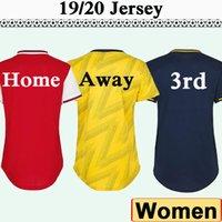 venda de uniformes de meninas venda por atacado-19 20 Mulheres Início Red camisas de futebol afastado amarelo manga curta menina camisas do futebol 2019 2020 dama da moda Uniformes vendas a baixo preço