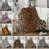 Wholesale heated fleece blanket for sale - Group buy Pleuche Blanket Leopard Grain Sofa Nap Blanket D Printed Kids Thickened Winter Warm Heat Preservation Fleece Blankets WY212Q